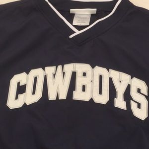 Authentic Dallas Cowboys warmup jacket - pull over
